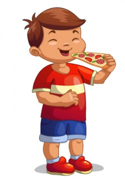 לאכול פיצה עם הקרטון…