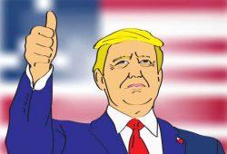 הנשיא טראמפ, הרים את אצבעו למעלה ואמר: זה היה אלוקים. בזכותו