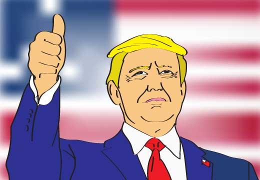 הנשיא טראמפ, הרים את אצבעו למעלה ואמר: 'זה היה אלוקים. בזכותו